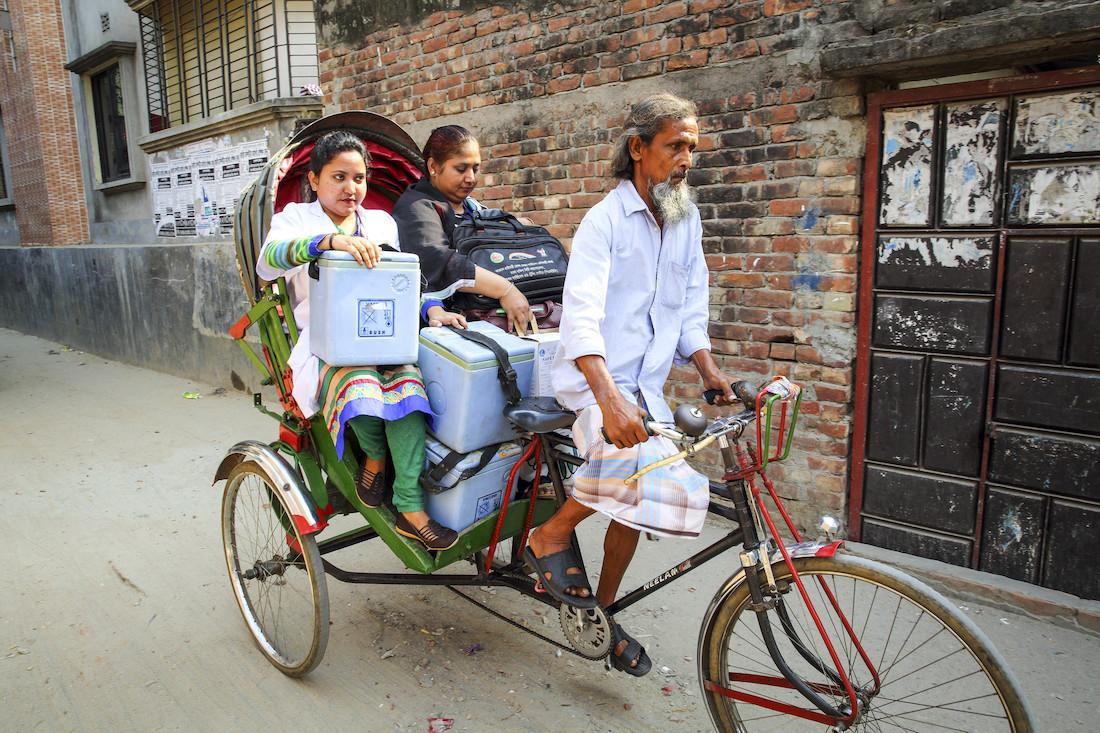 Einblicke in die Arbeit der Impfallianz Gavi, hier: Bangladesch. Bild: Gavi/GMB Akash