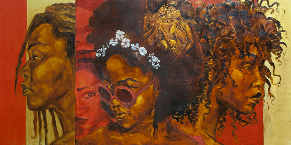 """J'nell Jordan """"Levels"""" Inspired by Nina Simone - The Untitled Space - SHE INSPIRES Exhibit - May 2017."""