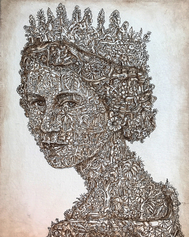 "Alexis Duque ""Queen"" Inspired by Queen Elizabeth II - The Untitled Space - SHE INSPIRES Exhibit - May 2017."