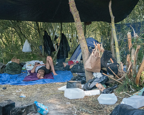The conditions of the camps in Calais. Credit: Choose Love