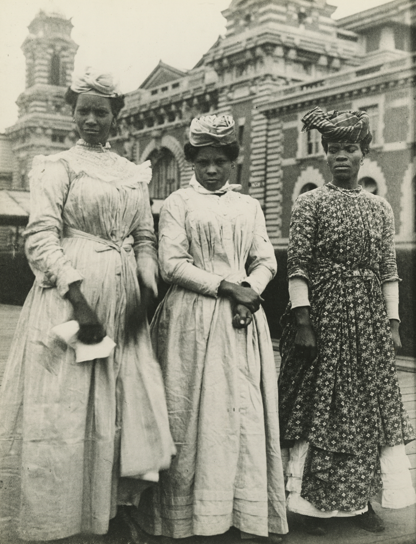Women from Guadeloupe, French West Indies, at Ellis Island After Arrival on S.S. Korona, 1911