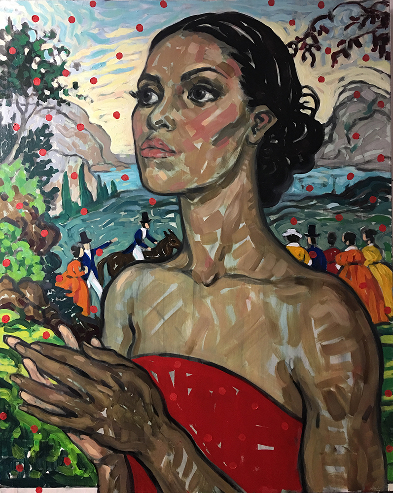 """Rebecca Leveille """"State of Grace"""" Inspired by Michelle Obama - The Untitled Space - SHE INSPIRES Exhibit - May 2017."""