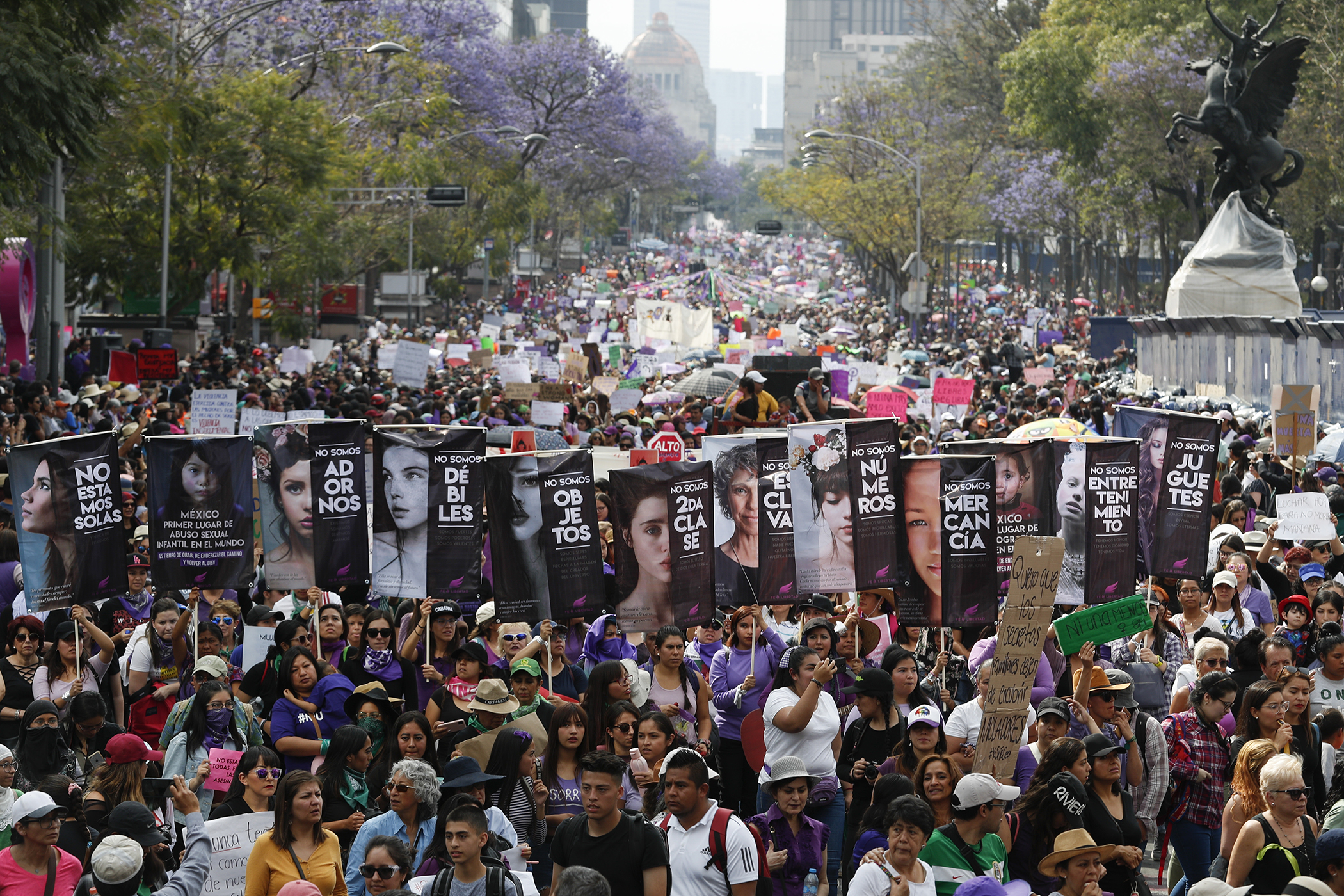 International Women's Day in Mexico City.
