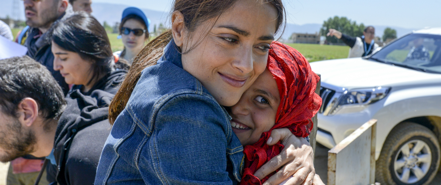 Image result for Salma Hayek mexico earthquake