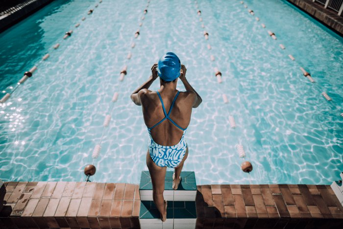 Adidas is making swimsuits with recycled ocean plastic adidas ocean plastic swimwear 2g sciox Image collections