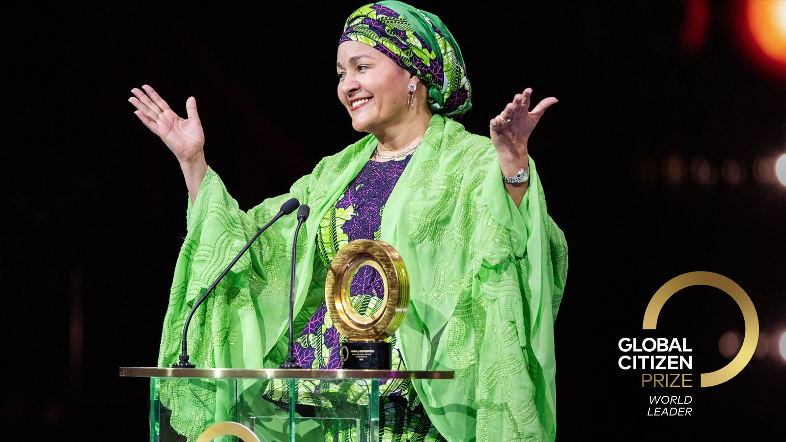 World Leader of the Year Award Winner 2019 - Deputy Secretary-General of the United Nations Amina J. Mohammed