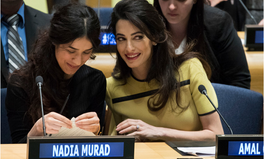 Article: With Amal Clooney at Her Side, a Yazidi Former Sex Slave Pleaded to the UN to Take Action
