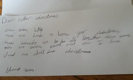 Article: British Girl, 7, Writes Heartbreaking Letter to Father Christmas Asking for a 'Home and Food'