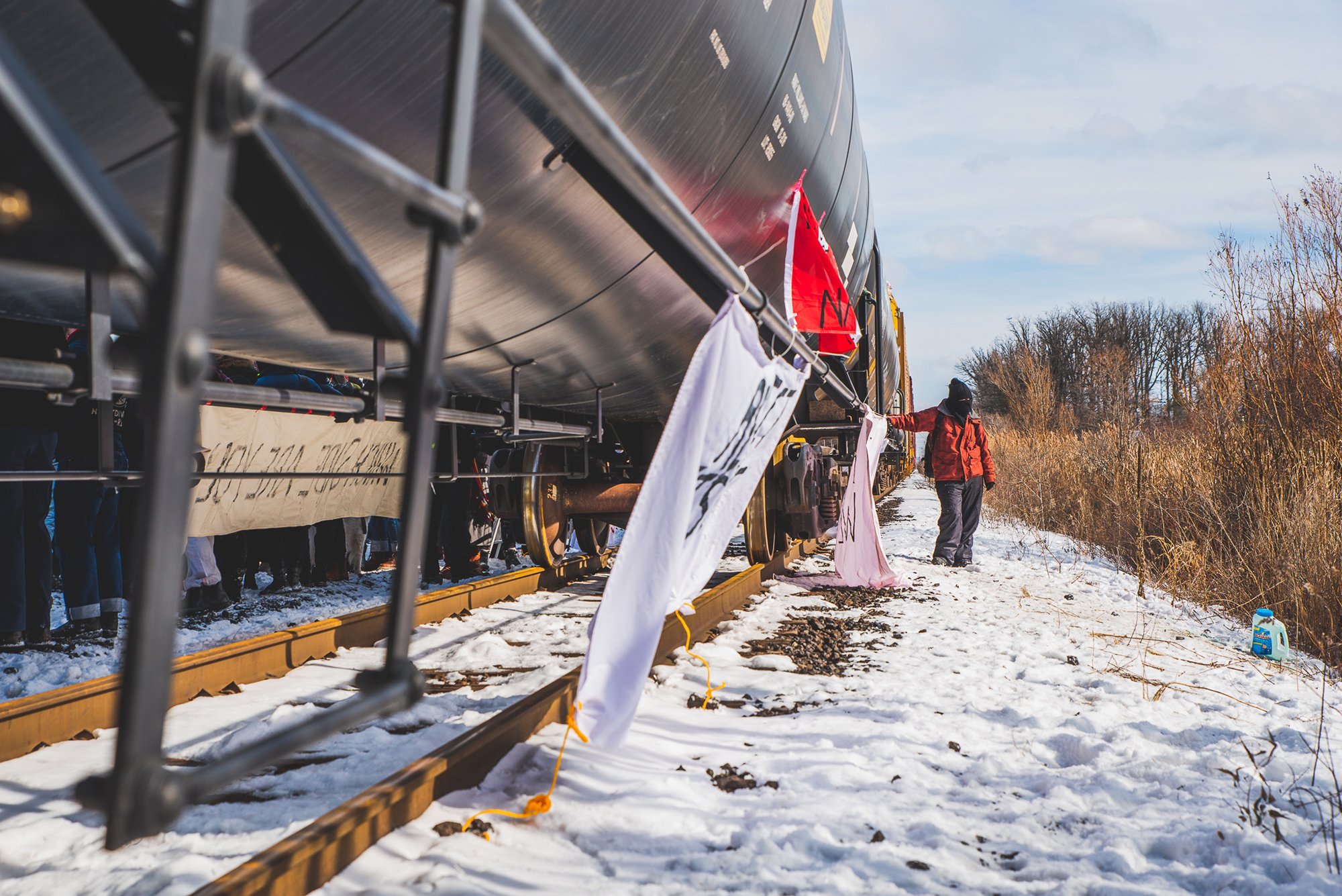 Indigenous People in Canada Are Protesting a Gas Pipeline by Blocking Railways