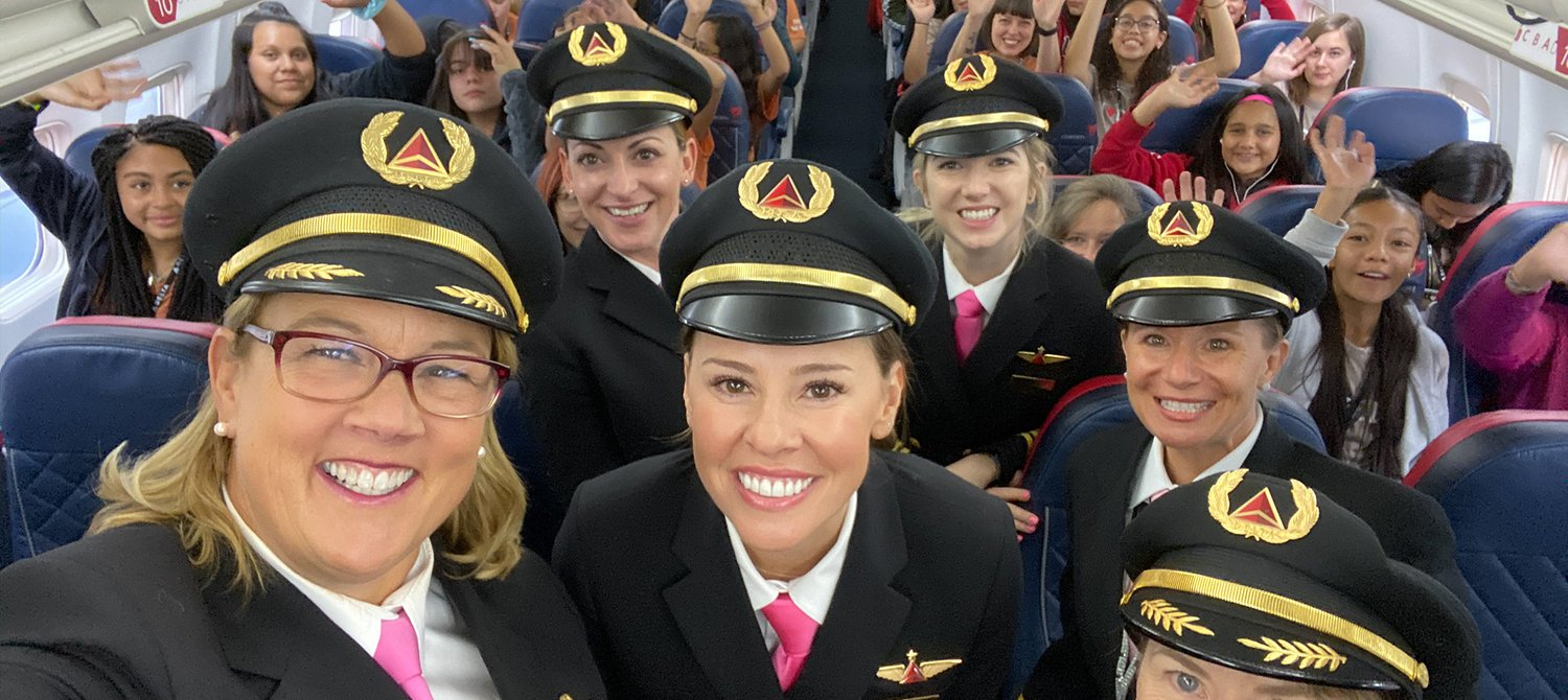 This All-Female Crew Flew 120 Girls Studying STEM to NASA