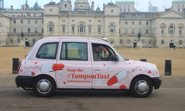 Article: A Pink 'Tampon Taxi' is Picking Up Passengers in London to Teach About Period Poverty