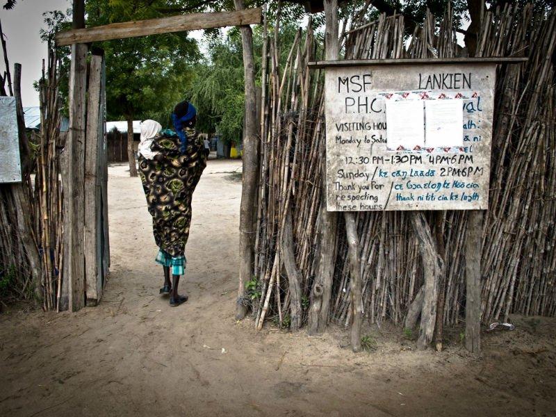 Entry to MSF hospital in Lankien South Sudan.jpg