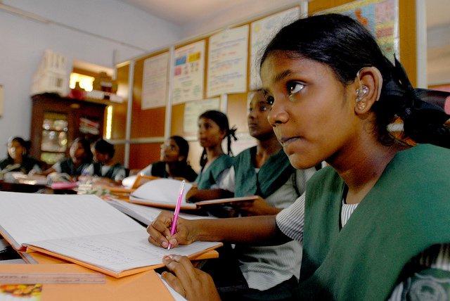 girls in school india