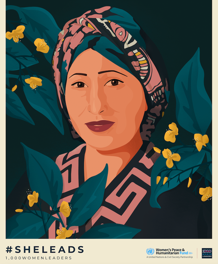 Razia Sultana 1000WomenLeaders Portrait Ariel Sinha.png