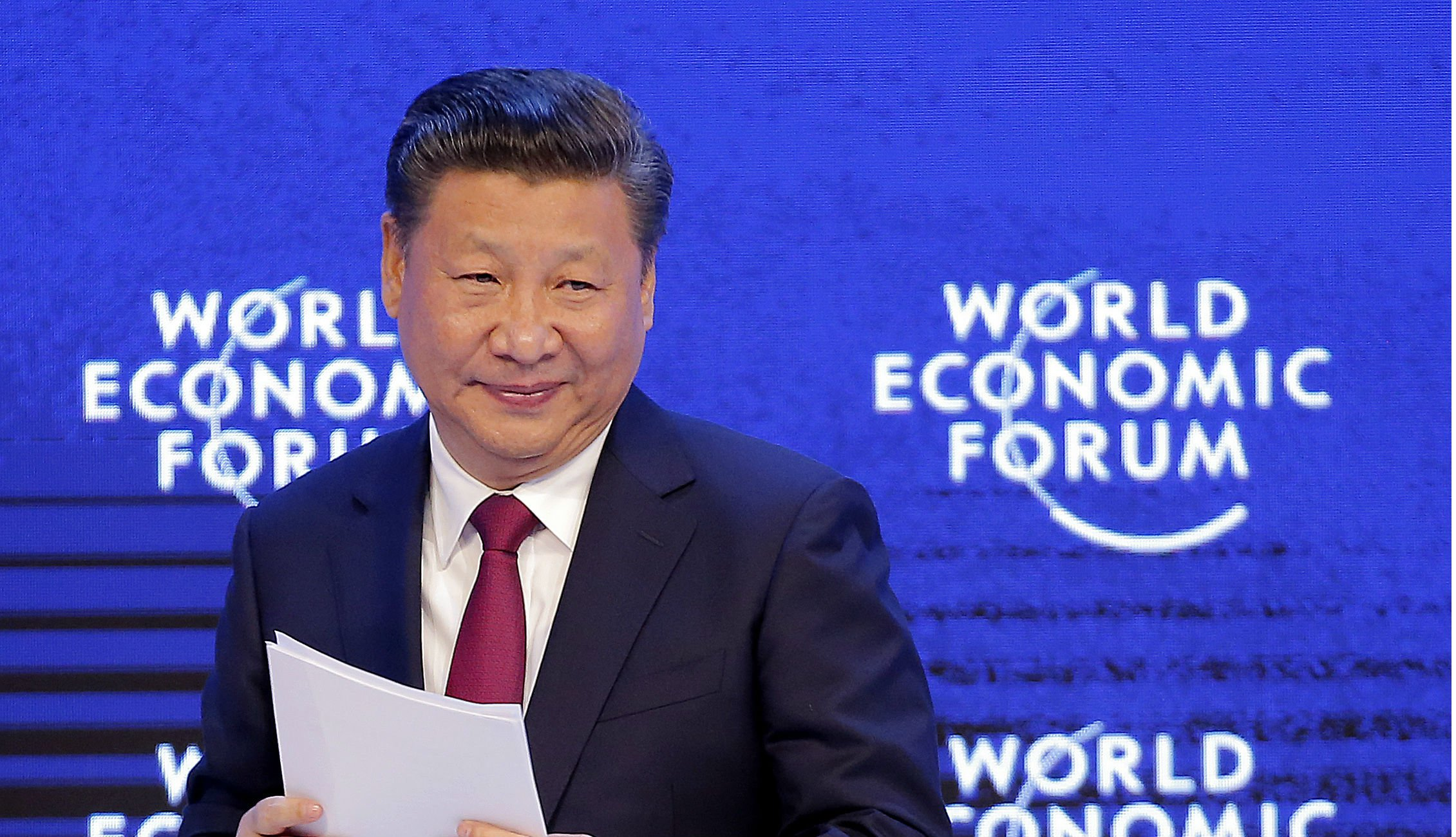 Chinese president Xi Jinping at World Economic Forum in Davos.jpg