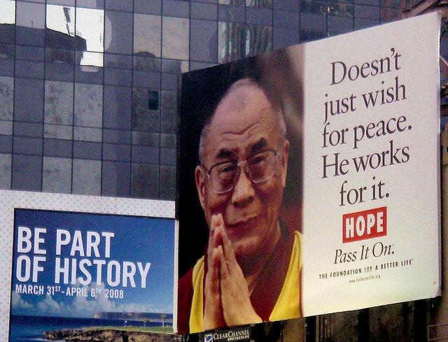 Dalai Lama billboard