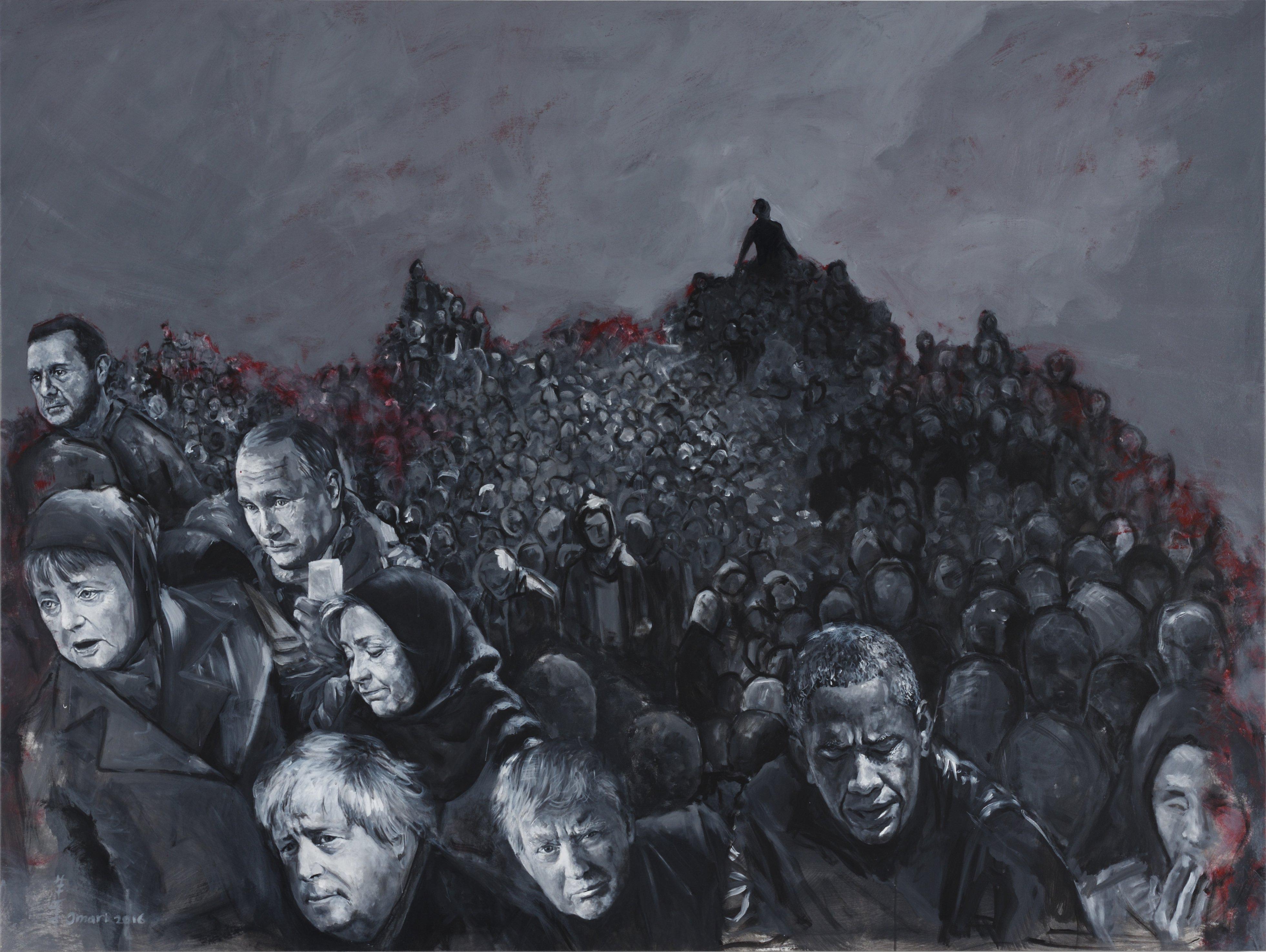 AO19 Abdalla Al Omari 'Yarmouk' 143 x 190 cm Acrylic on canvas 2016.jpg