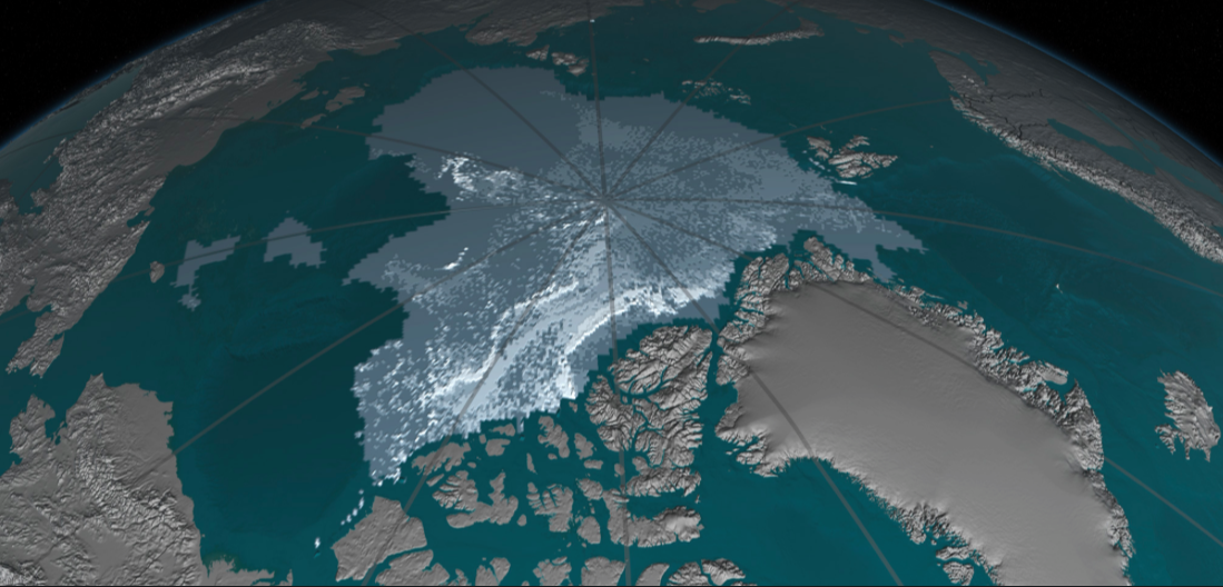 Older, thicker Arctic ice declines -- 2016