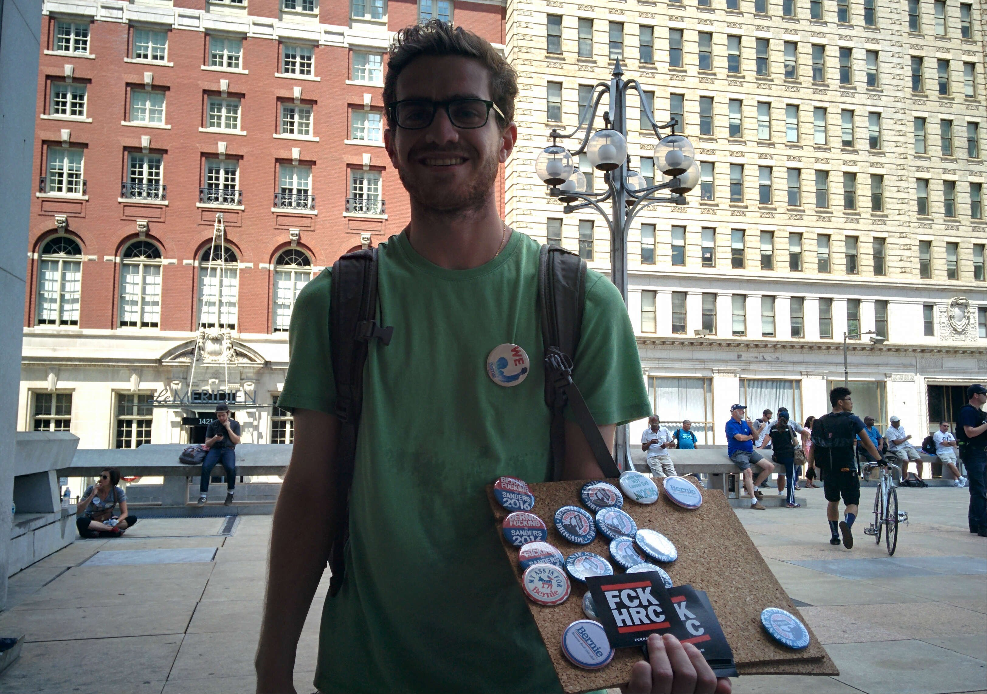 DNC-Protestors-Show-up-views-BODY-Brian selling stuff.jpg