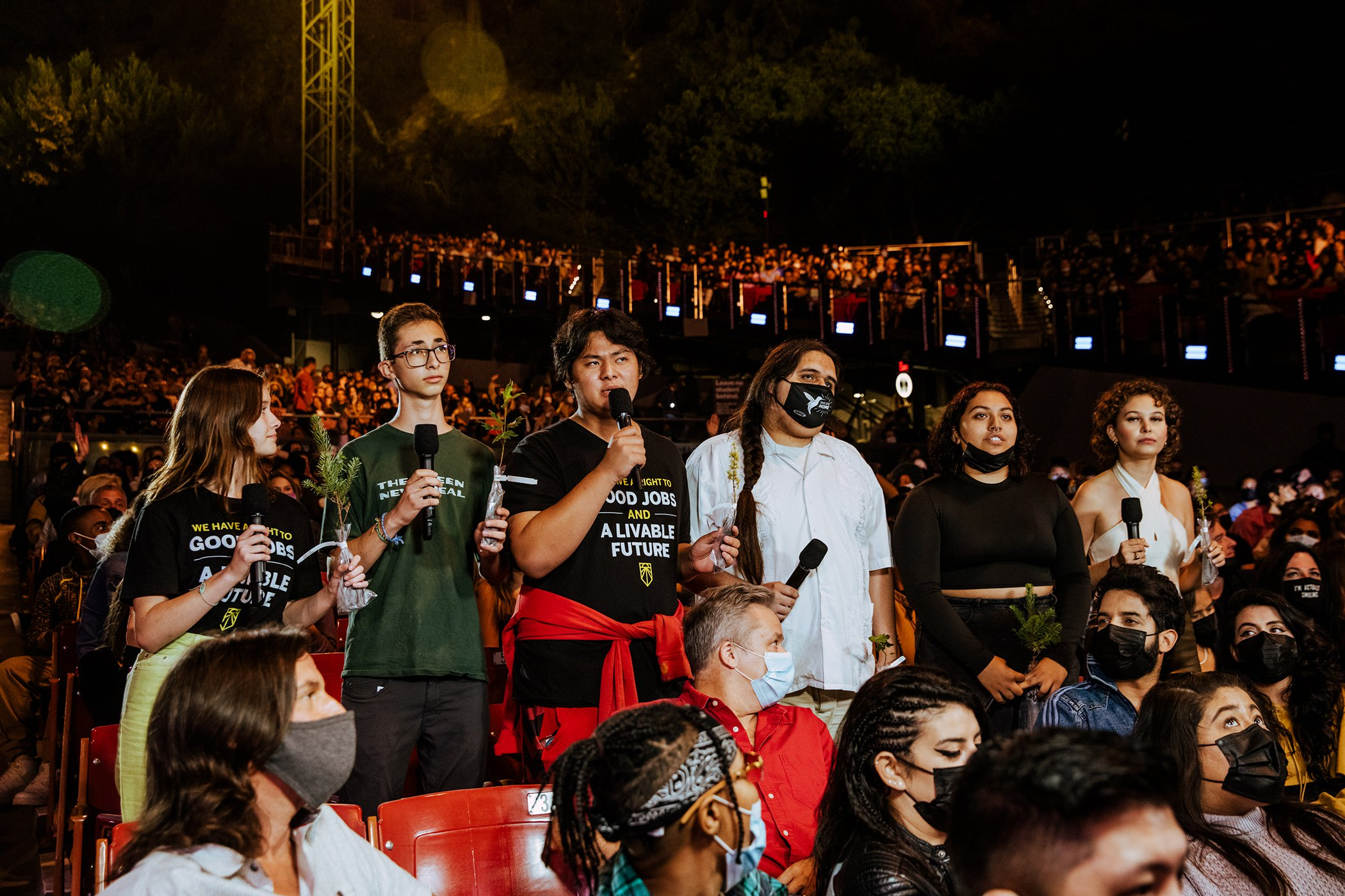 Young Climate Activists at Global Citizen Live in Los Angeles