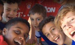 Video: Kids soccer charity generosity refugees helping