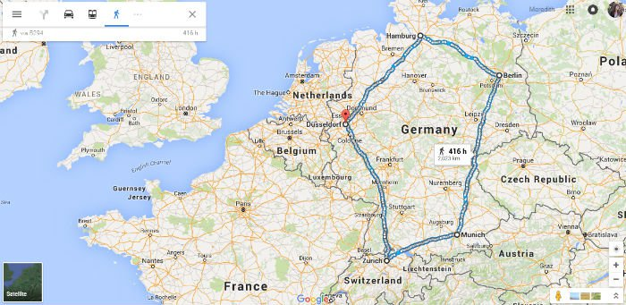 A Google Maps Perspective Of A Refugees Journey To Safety - Germany map google