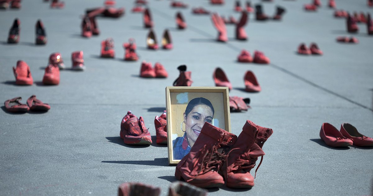 Women in Mexico City Rallied Against Femicide With Hundreds of Red Shoes