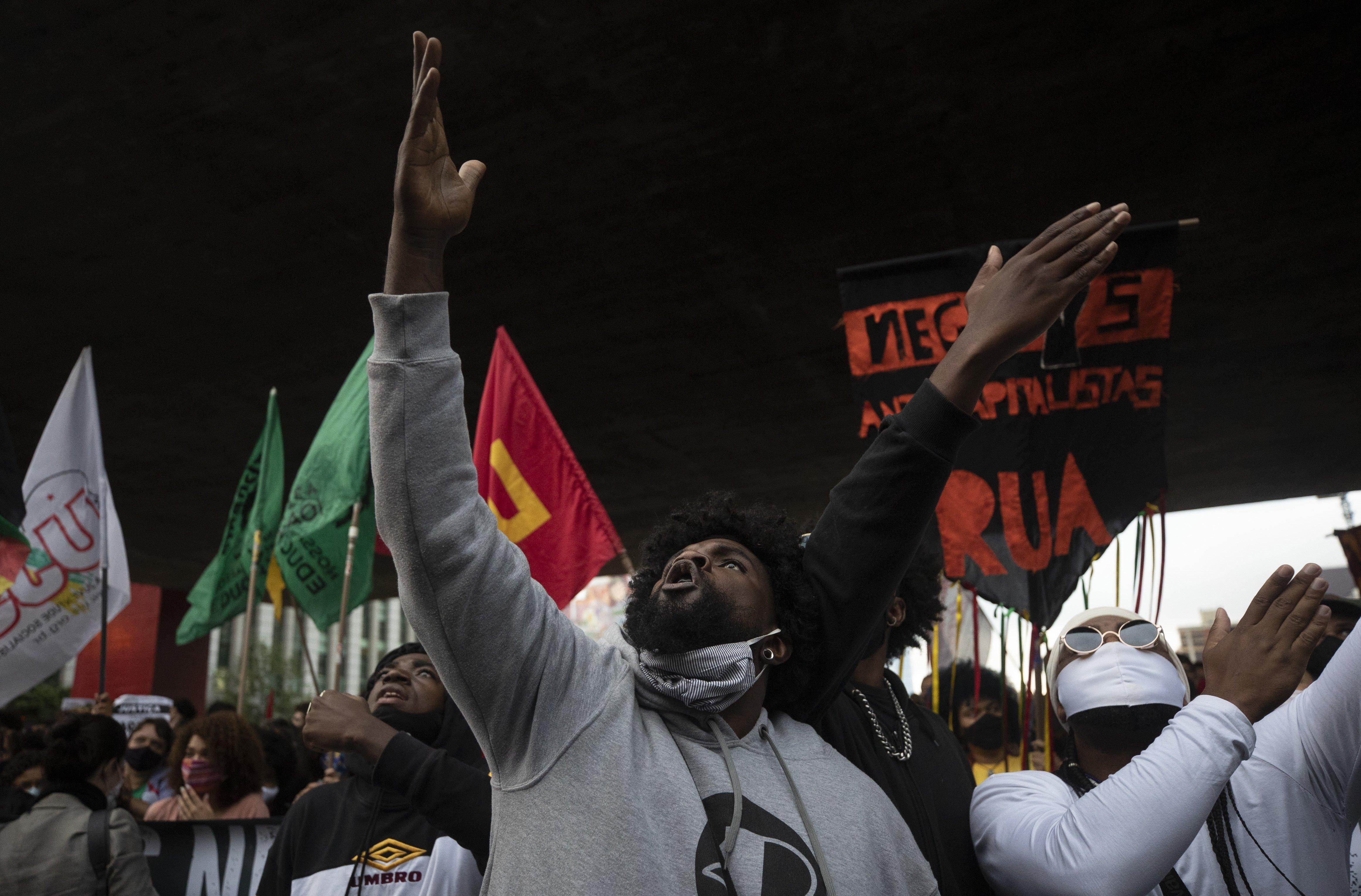 Protest in Brazil following murder of João Alberto Silveira Freitas