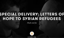 Article: Letters of hope to Syrian refugees - Shadi and Joe's stories