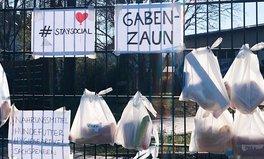 Merkmal: Lokales Engagement in Deutschland: Diese Gabenzäune helfen Menschen in Not durch die Coronakrise