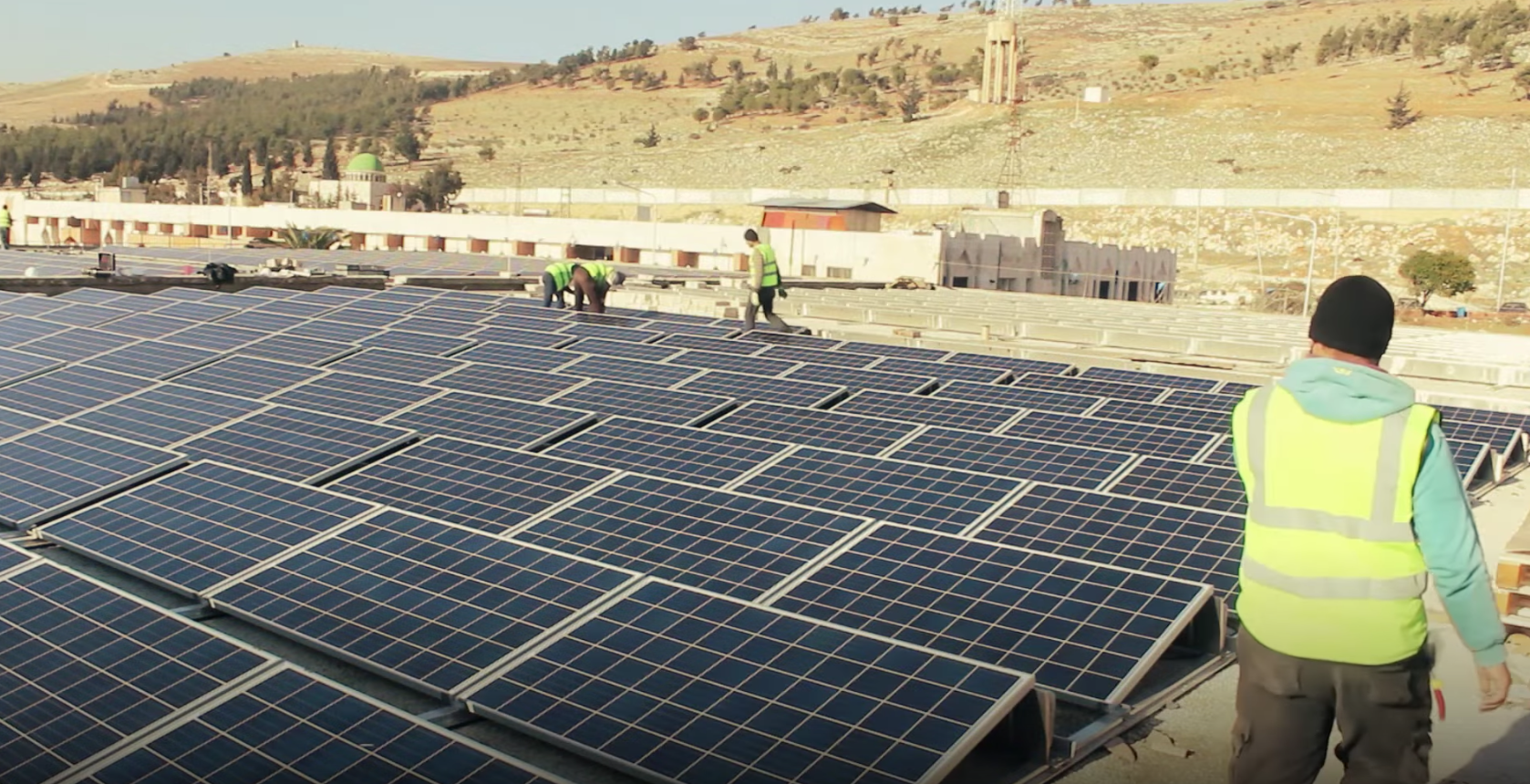 solar power syria hospital