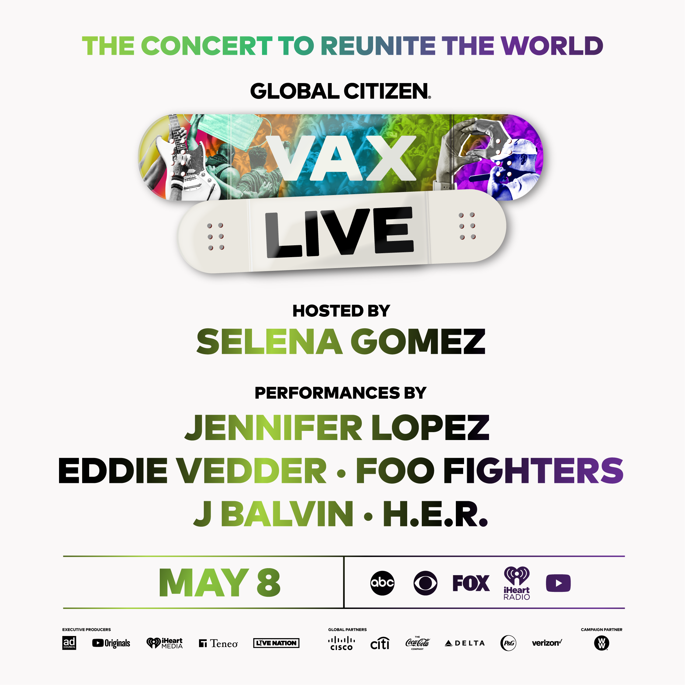 VAX LIVE': The Concert to Reunite the World and Ensure Everyone Has Access  to COVID-19 Vaccines