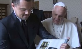 Video: This is the gift Leonardo DiCaprio gave to fellow climate champion, Pope Francis