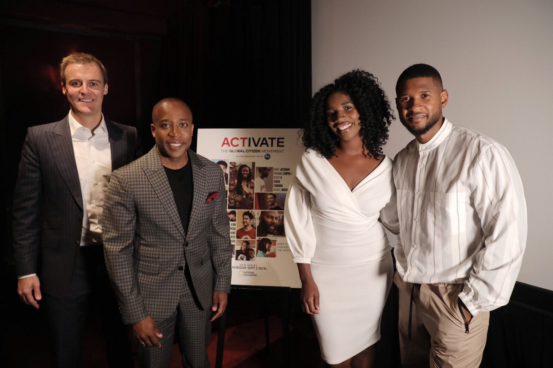 Usher at Activate LA Premiere Group Shot