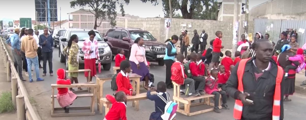 kenya schoolkids protest