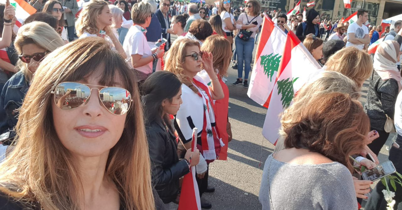 This Woman Is Fighting for Gender Equality at the Forefront of Lebanon's Uprising