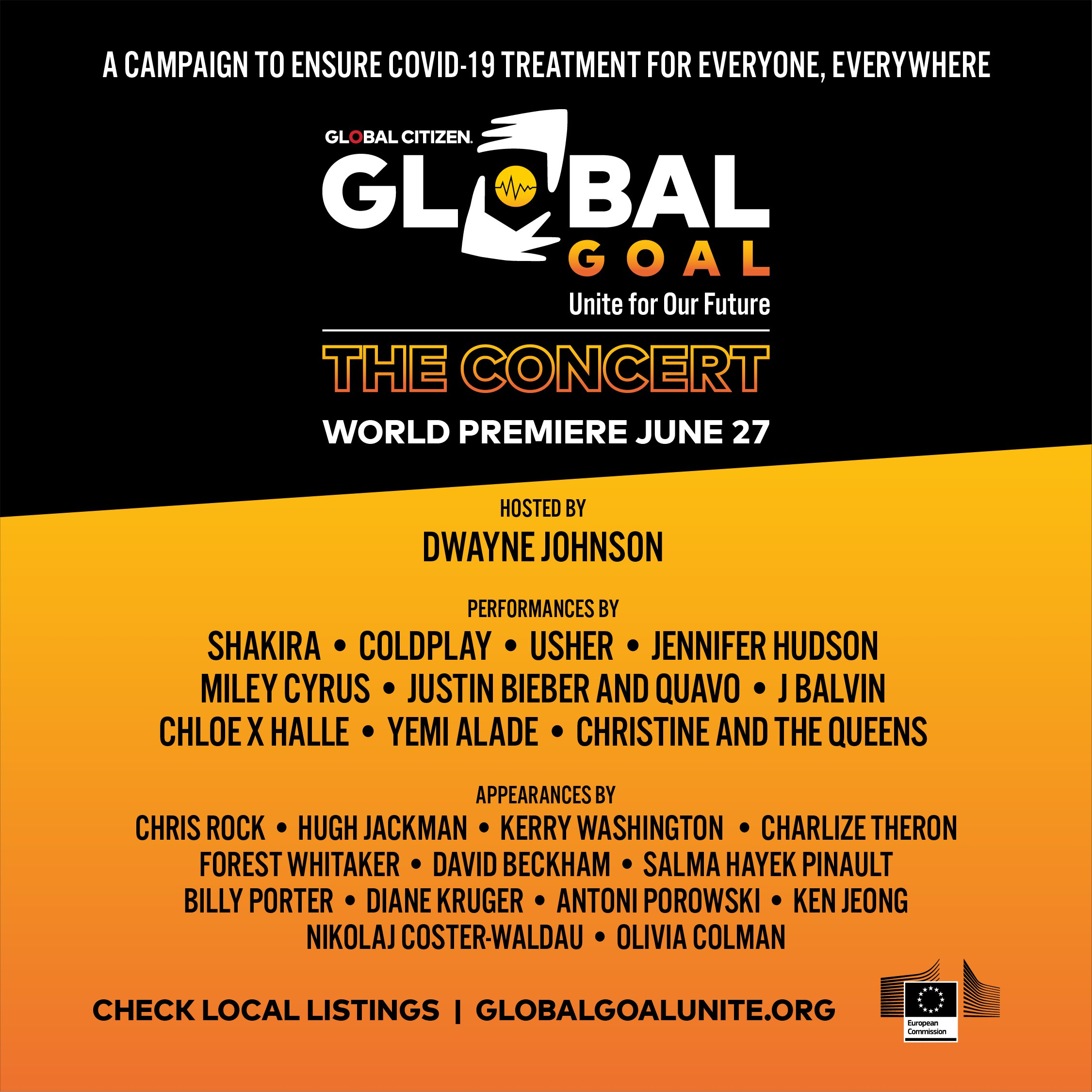 Here's Who's Performing in 'Global Goal: Unite for Our Future' to ...