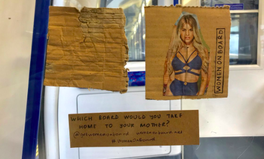 Article: Why Amazing Illustrations of Women on Cardboard Are Cropping Up in London