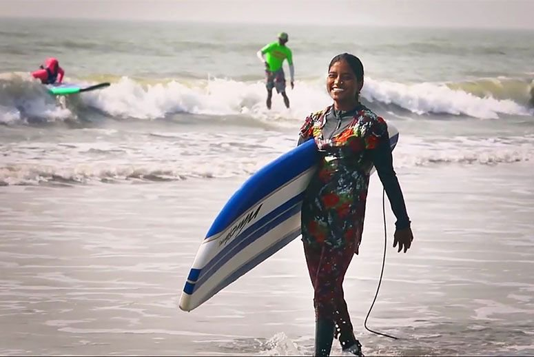 See How One Woman Surfer Is Making Waves In A Muslim Country