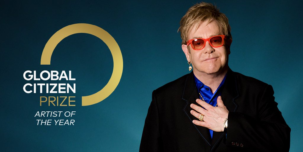 2020 Global Citizen Artist of the Year Winner - Elton John