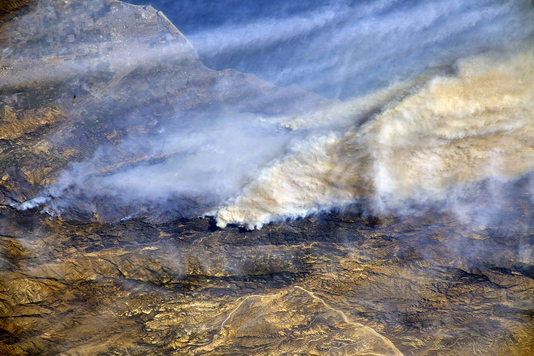 NASA forest fire