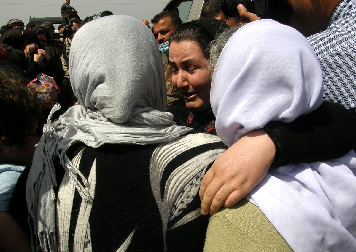 Yazidi women released