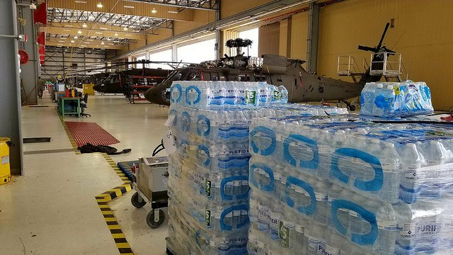 hurricane harvey water storage