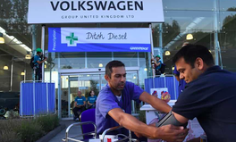 Article: Doctors and Environmentalists Set Up 'Sick Bays' Outside Volkswagen's UK Headquarters
