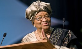 Artikel: Seven times Liberian President Ellen Johnson Sirleaf came first
