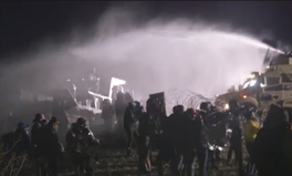 Article: Water Cannons and Concussion Grenades Intensify DAPL Protests as Winter Approaches