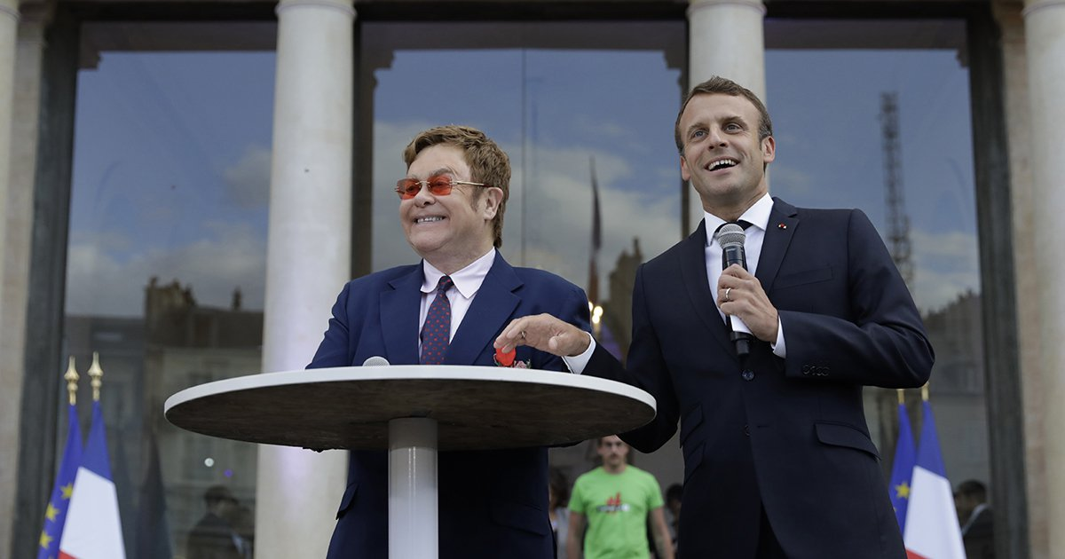 Elton John and President Macron Just Called on the World to Raise $14B to Fight AIDS, TB, and Malaria