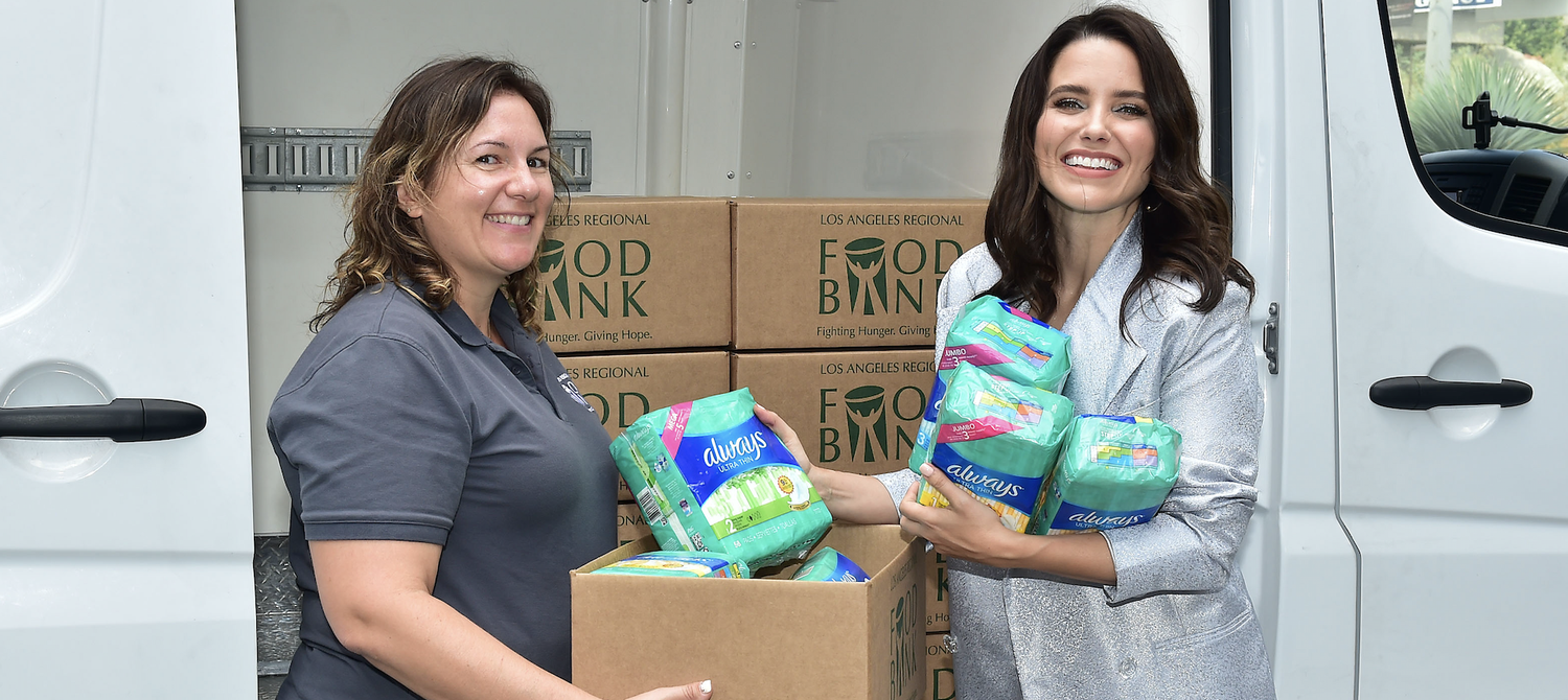 Sophia Bush and Always Are Helping #EndPeriodPoverty in the US