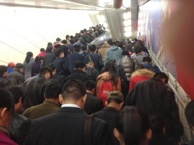 Beijing peak-hour subway traffic