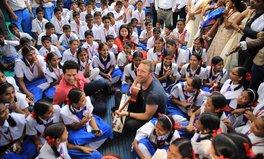Article: Chris Martin, Sachin Tendulkar Make Surprise Visit to Mumbai School
